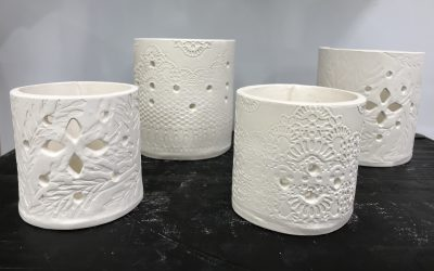 Festive Porcelain candle holders